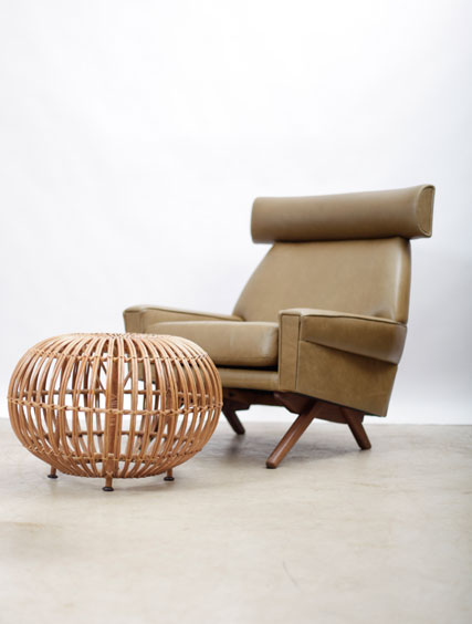 Ox Style Chair – Olive Leather