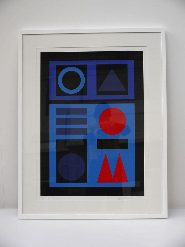 Jette Thyssen – Composition Titled 'Saga III ' Framed Lithograph