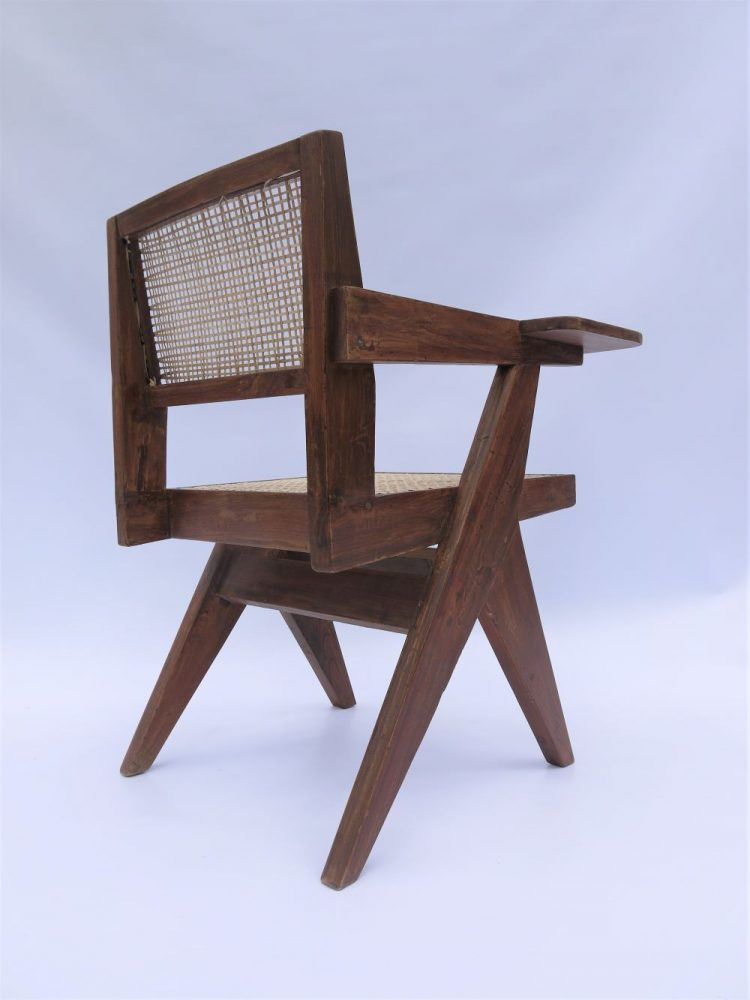 Pierre Jeanneret – Rare Paddle Writing Chair for Chandigarh