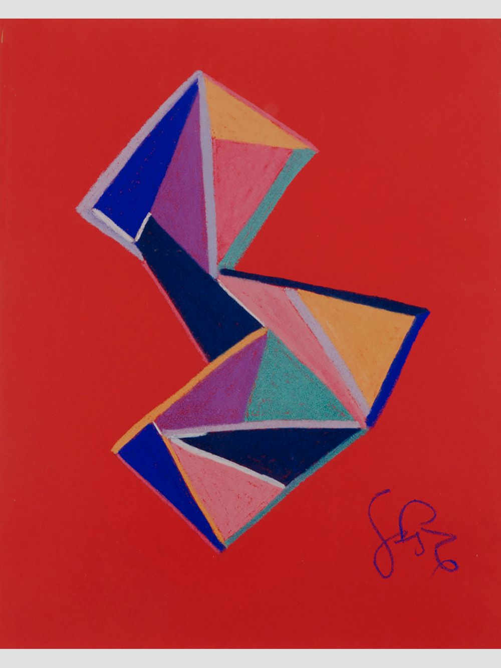 Abstract Composition II – Chalk on Paper
