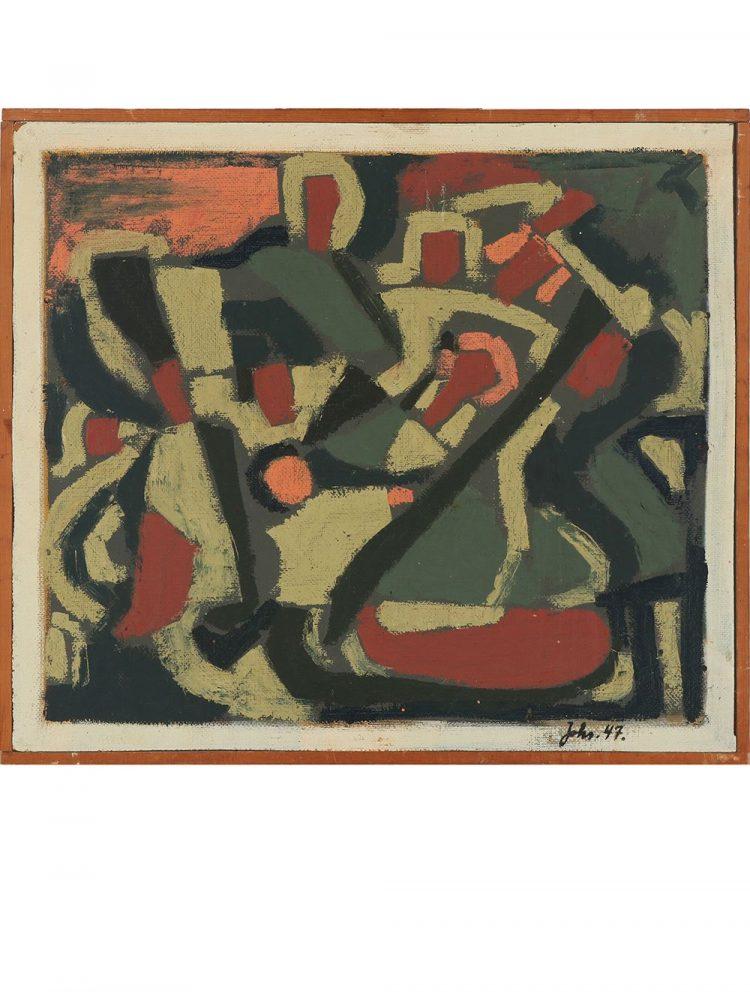 Johannes A. Jorgensen – Oil on Panel Untitled Composition