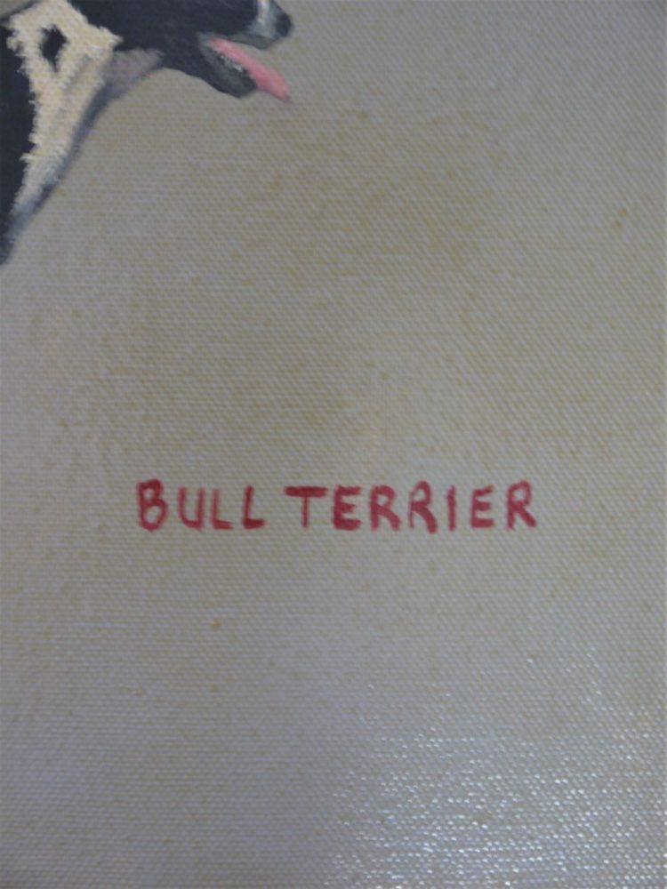 Rob Clarke – Oil on Board Bull Terrier