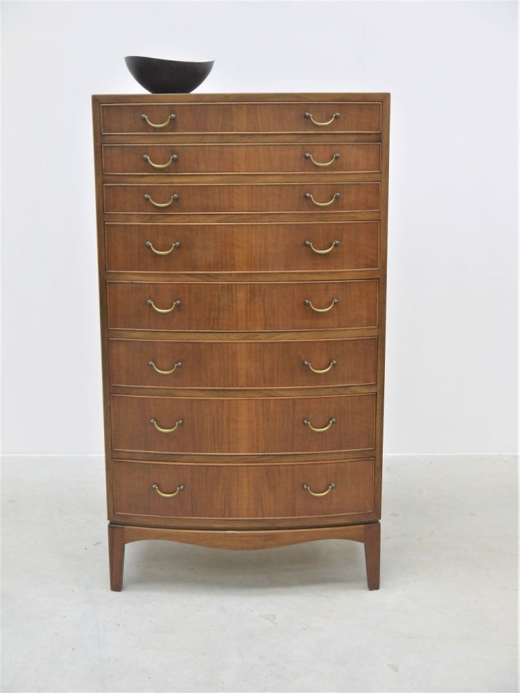 Frits Henningsen – Bow Fronted Tall Chest