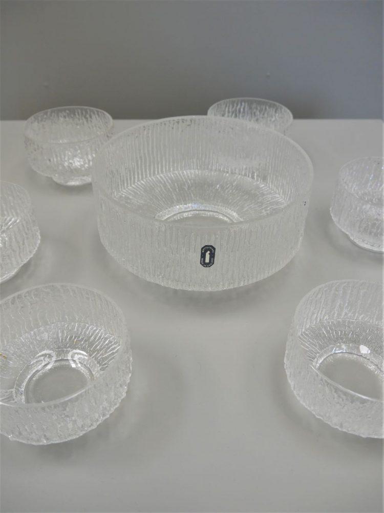 Geoffrey Baxter – Whitefriars Large Bowl with Matching Dessert Bowl