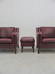 Borge Mogensen – Match set of Lounge Chairs and Ottoman