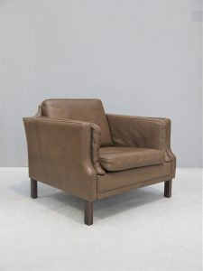 Borge Mogensen – Pair of Leather Club / Lounge Chairs