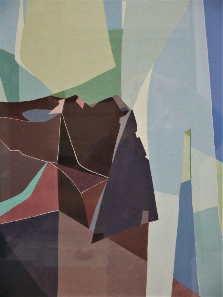 Jane Rhodes – Original Oil 'Pink Stone in Reeds'