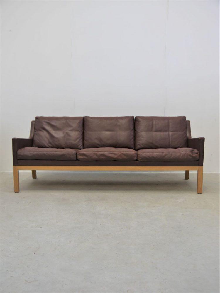 Kai lyngfeldt Larsen – Three Seat Leather Sofa