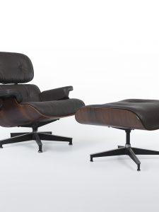 Charles and Ray Eames – Rosewood 670 Lounge Chair and 671 Ottoman