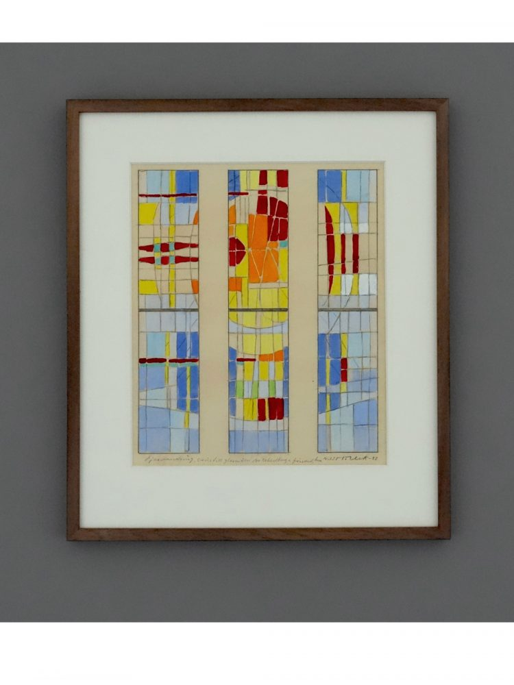 Nils Moller – Mixed Media 'Design for Stained Glass Window'
