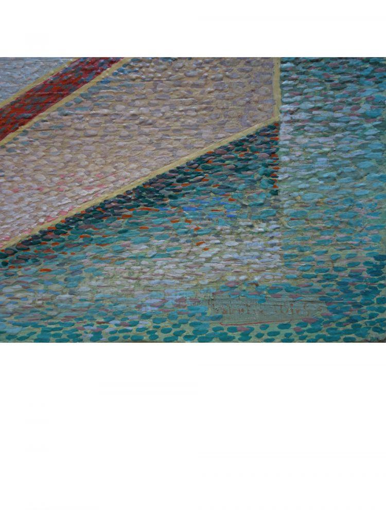 Raymond Wallentin – Cubist Landscape Oil on Panel