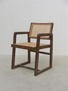 Pierre Jeanneret – Rare Box Desk Chair Model PJ-SI-53-A