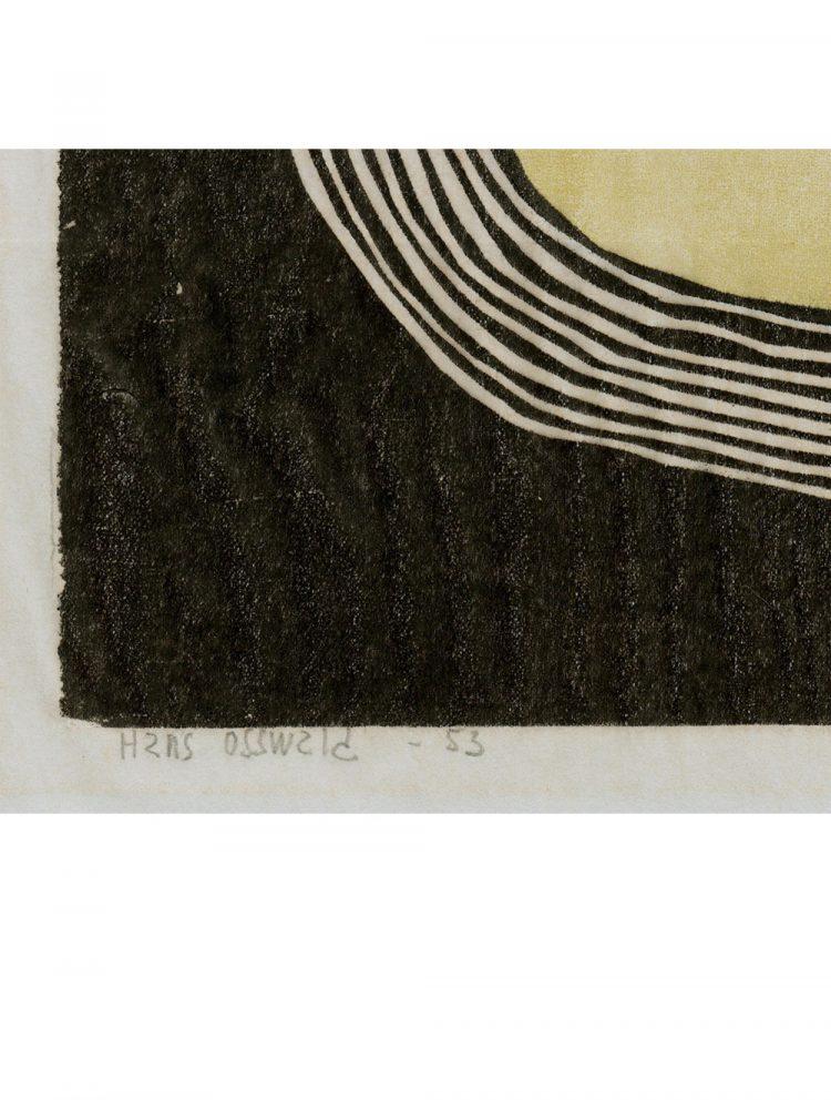 Hans Osswald – Untitled Lunar Composition Woodcut