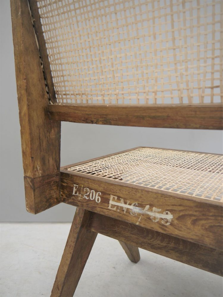 Pierre Jeanneret – Rare Original Paddle Writing Chair for Chandigarh