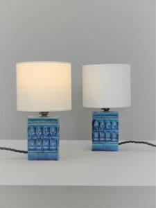 Aldo Londi – Bitossi Rare Pair of Bedside Lamps