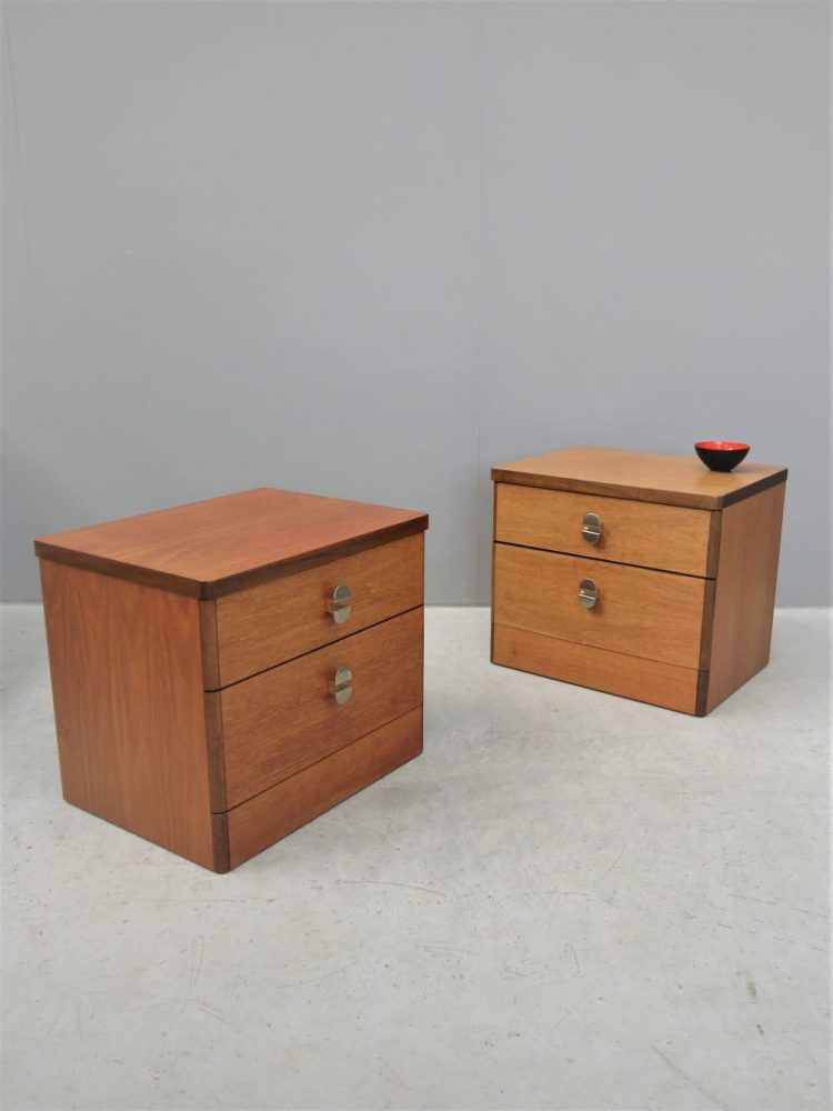 John and Sylvia Reid – Pair of Stag Bedside Cabinets
