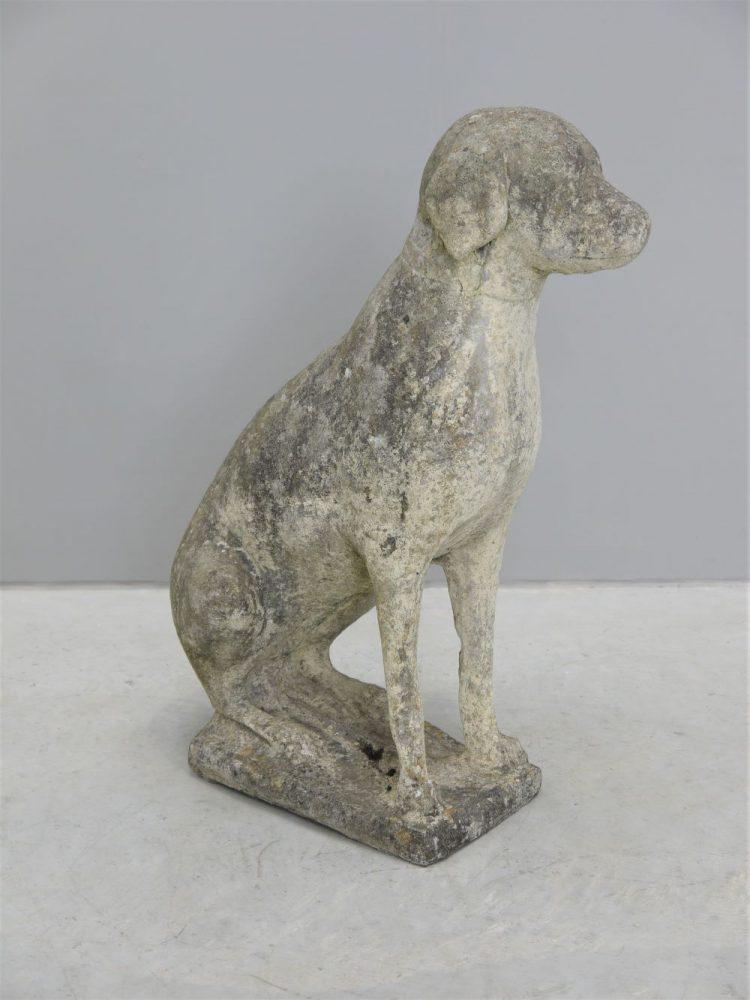 Concrete – Large Vintage Dog Statue