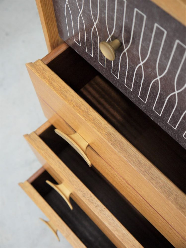 Harris Lebus – Oak Tall Chest of Drawers