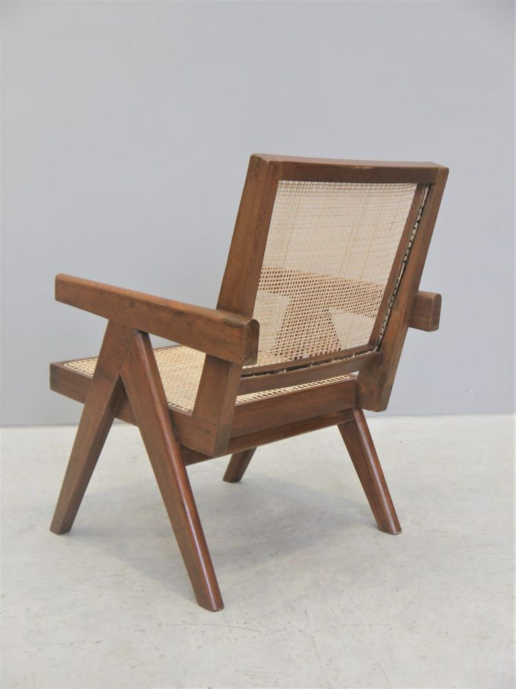 Pierre Jeanneret – Rare Low Easy Lounge Chair for Chandigarh India